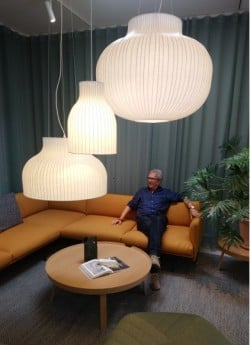 David Village Lighting visit Muuto's showroom in Copenhagen, Denmark