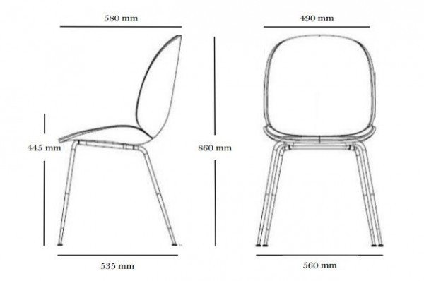 Gubi Beetle Dining Chair Leather