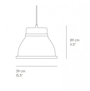 Specification image for Muuto Studio Pendant Light
