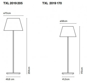Marset TXL 2019 outdoor floor lamp