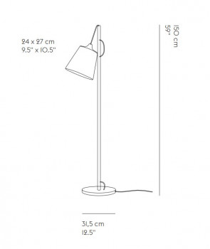 Specification image for Muuto Pull Floor Lamp