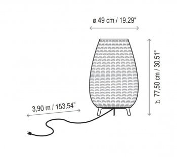 Specification image for Bover Amphora 01 Floor Lamp