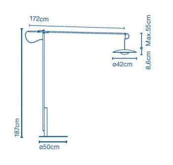 Specification image for Marset Ginger XL 42 LED Floor Lamp