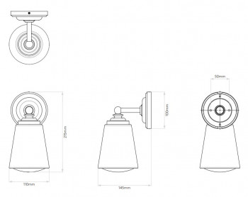 Specification image for Astro Anton Wall Light