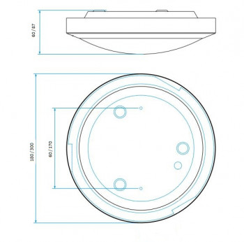 Specification image for Astro Dakota Bathroom Light