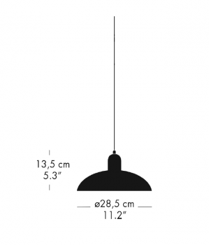Specification image for Fritz Hansen Kaiser Idell 6631 Pendant