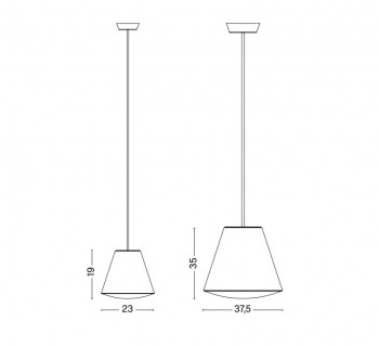 Specification image for HAY Sinker pendant