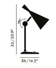 Specification image for Tom Dixon Beat Table Lamp