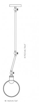 Specification image for Menu Hudson Ceiling/Wall Lamp