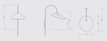 Specification image for Ferm Living Arum Wall Light