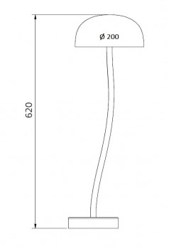 Specification image for Curve Large table lamp LED Ø20 cm diameter