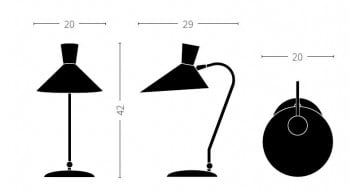 Specification image for Bloom table lamp