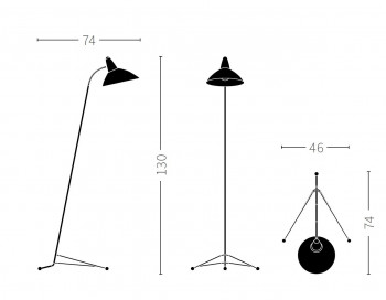 Specification image for Warm Nordic Lightsome floor lamp