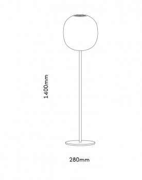 Specification image for Resident Bloom Floor lamp