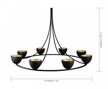 Specification image for Porta Romana Compton Chandelier