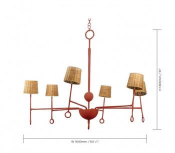 Specification image for Romana Crawford Chandelier
