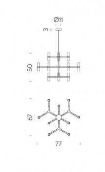 Specification image for Nemo Lighting Crown Minor Chandelier