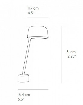 Specification image for Muuto Lean Wall Lamp