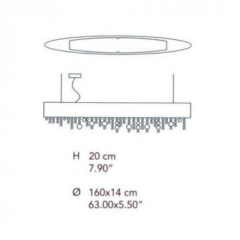 Centrelight Hola Suspension - Oval