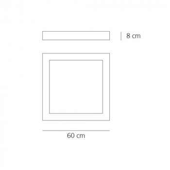 Specification image for Artemide Altrove 600 LED Wall/Ceiling Light