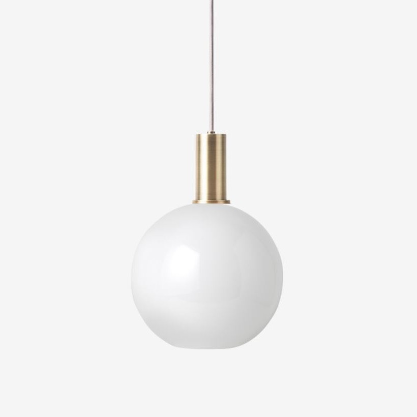 Ferm Living Opal Shade Round/Low Pendant